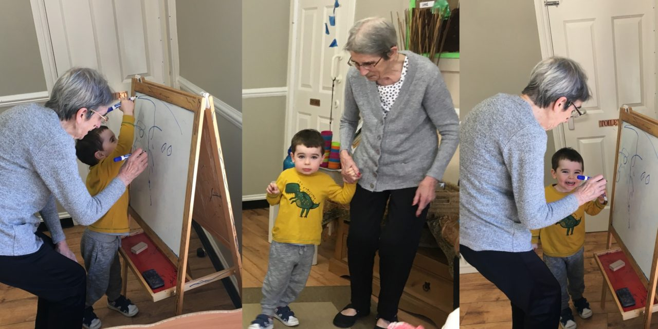 Toddlers and elderly both benefit from joint play
