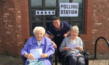 Care home residents cast their vote in European election