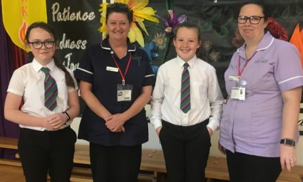 Pupils learn about dementia from care home staff