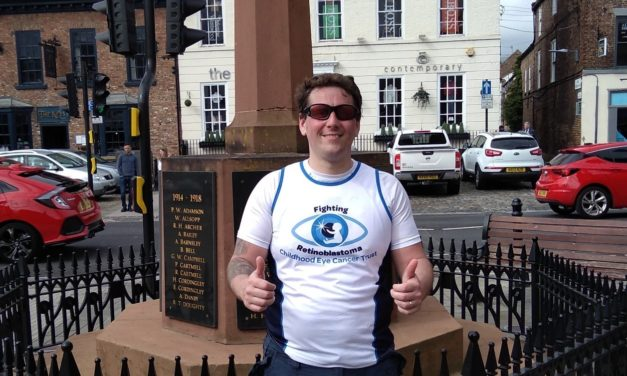 Dad-of-two set for grueling charity challenges, raising money for the Childhood Eye Cancer Trust
