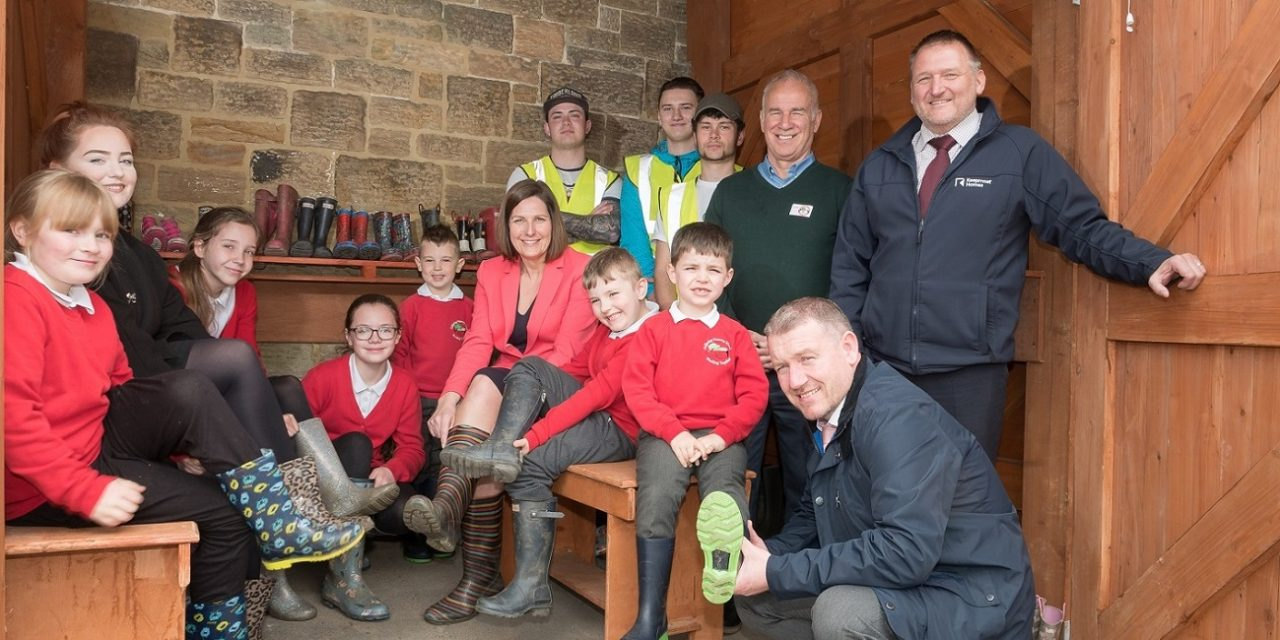 Construction students give it some 'welly!'