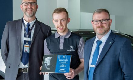 Simon Bailes technician 'one of the youngest in the UK' to receive prestigious Peugeot accolade