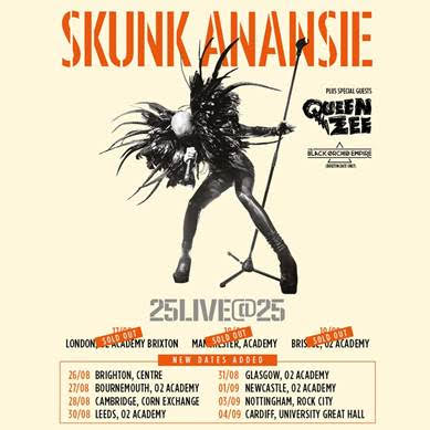 SKUNK ANANSIE ANNOUNCE 25LIVE@25 ADDTIONAL UK DATES