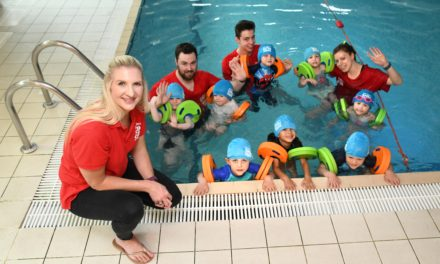 Youngsters receive special swimming lesson with Olympic gold medallist Becky Adlington