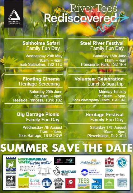 River Tees Rediscovered – Dates for Summer 2019