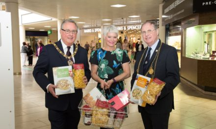 Food bank donation box arrives at intu Metrocentre