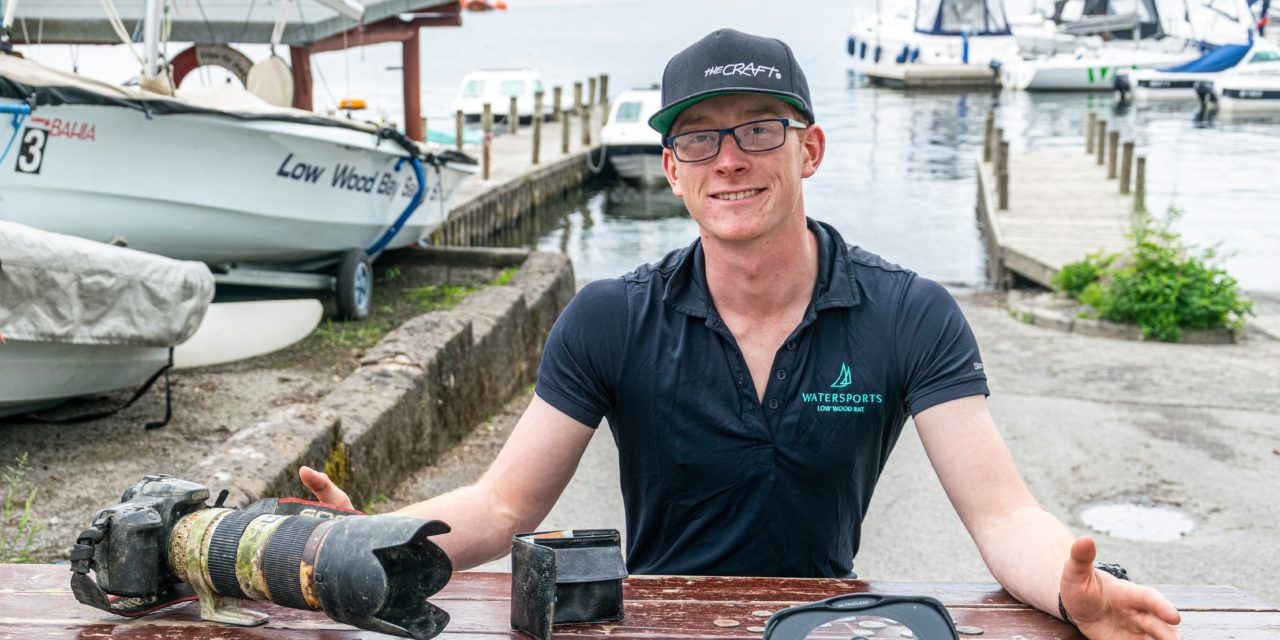 Free-diver provides lost and found service at Low Wood Bay