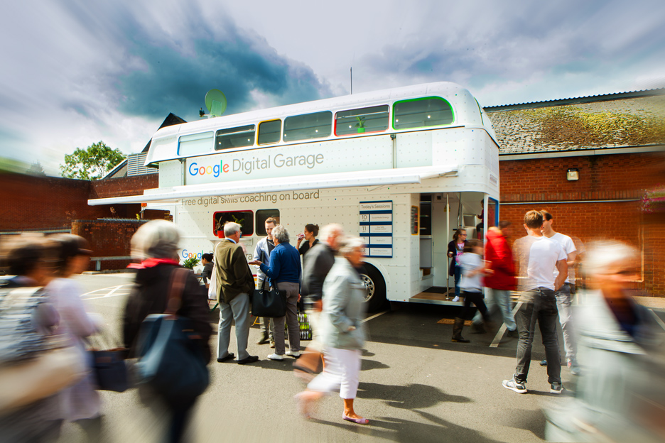 The Google Digital Garage Bus is coming . . . .