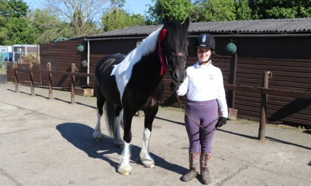 Laura gets set for National Riding for the Disabled Dressage Championship