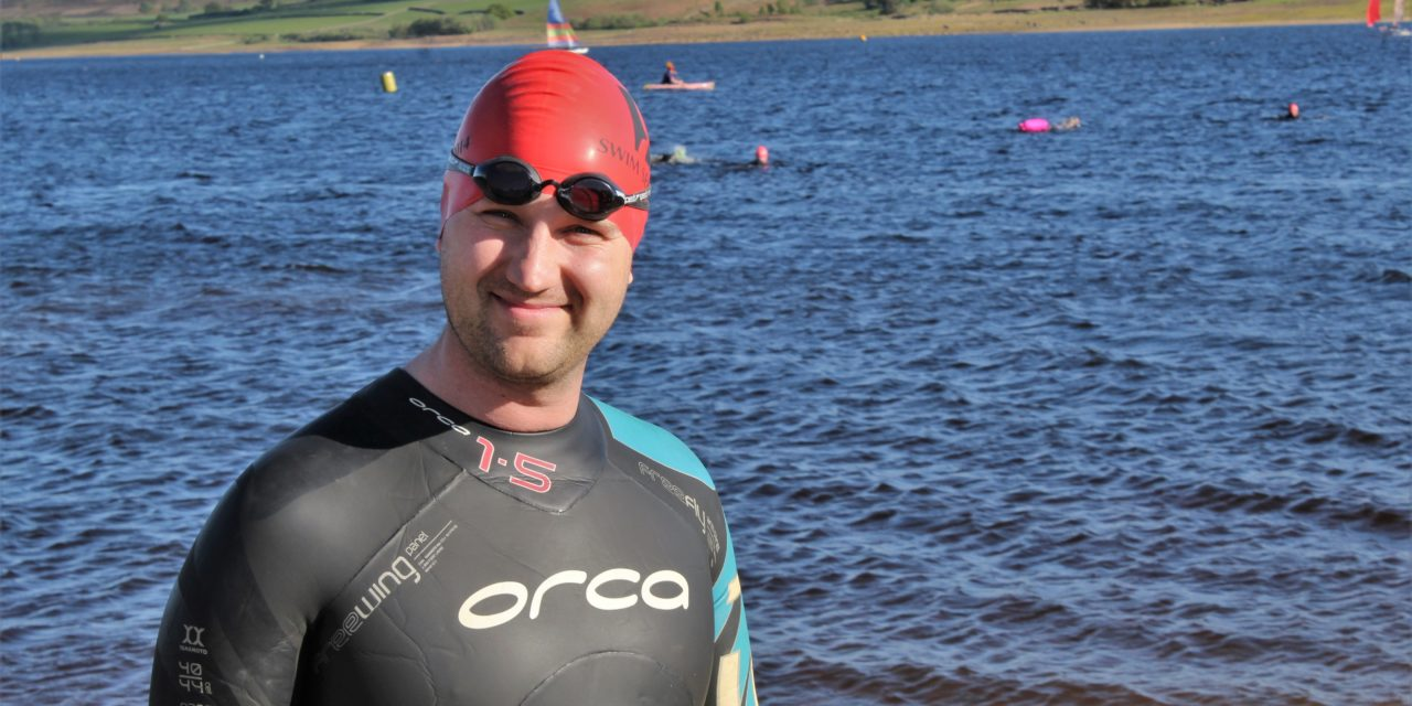 Swimmer takes the plunge for cancer charity