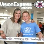 Young eye cancer survivor with sights set on pro football opens new Metrocentre optician