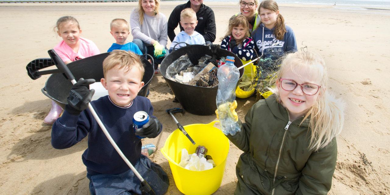 Plastic not-so fantastic: primary school pupils discover waste including car parts during Northumberland beach clean