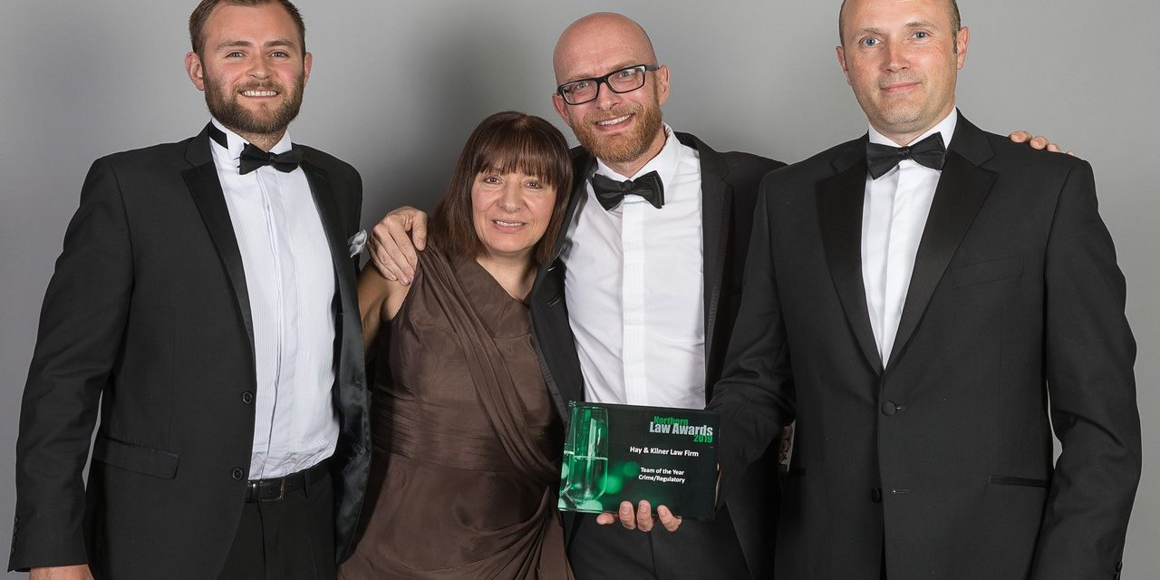 Hay & Kilner Picks Up Coveted Crime Team Trophy At Northern Law Awards