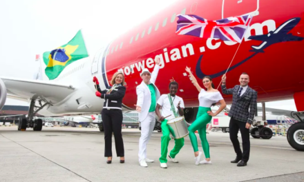 Norwegian's first flight to Brazil takes off