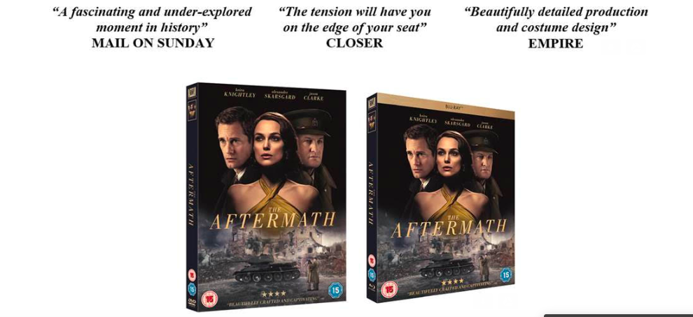 THE AFTERMATH | ON BLU-RAY & DVD | 8th July