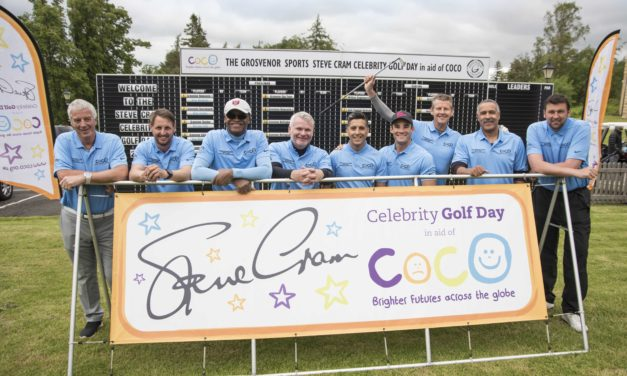 Sports stars help businesses raise thousands for charity at the Steve Cram Celebrity Golf Day