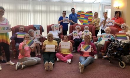 Rainbows adorn care home for LGBT Pride Month
