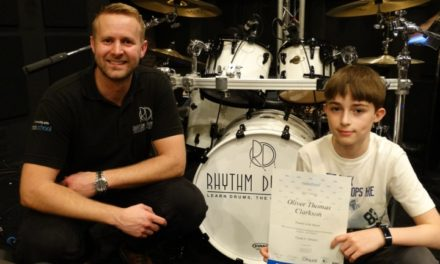 Young drummer rocks top grade