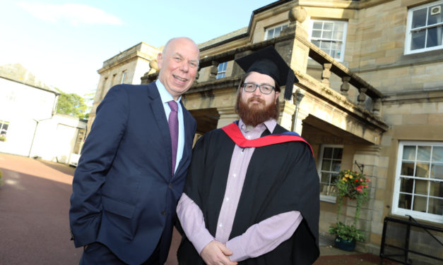 Senior business leader talks skills gaps and nurturing regional talent at Northumberland College graduation