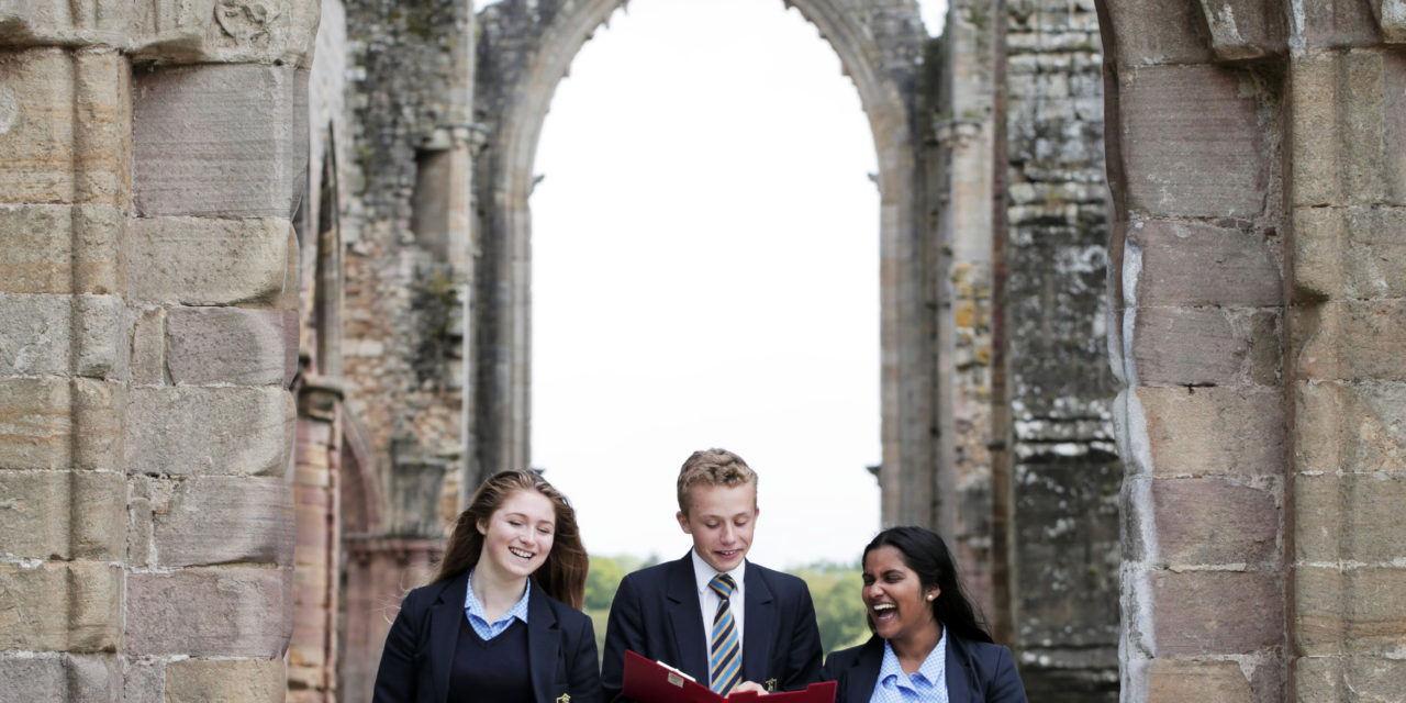 Ripon Grammar students inspired by ancient abbey ruins