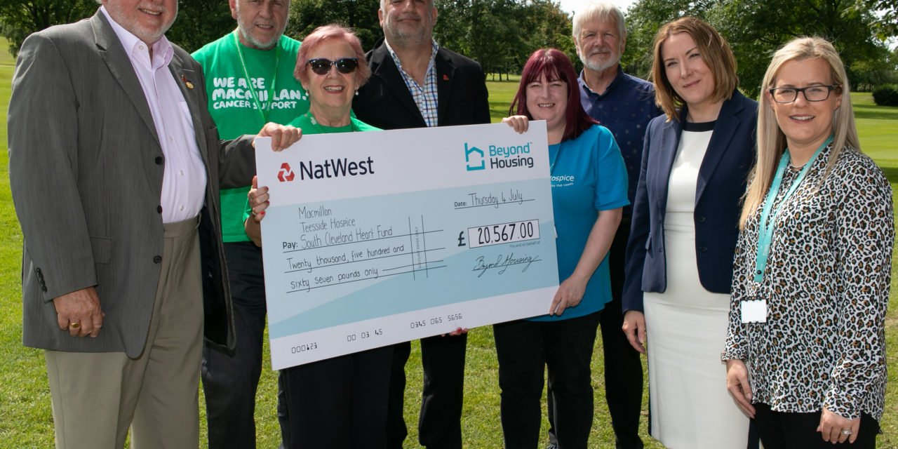 BEYOND HOUSING CHARITY SUPPORT TOPS £20,000