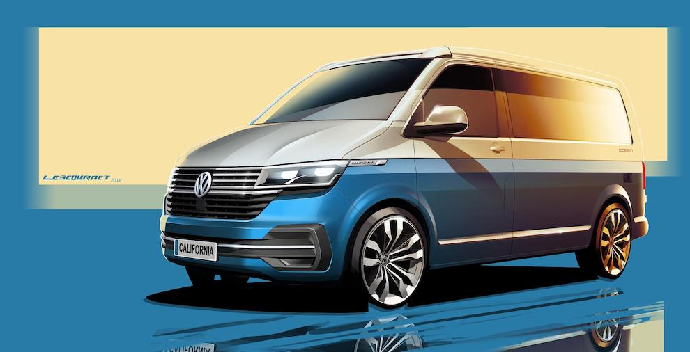 UPDATE FOR THE ICONIC CAMPER VAN: VOLKSWAGEN OFFERS A FIRST LOOK AHEAD AT THE NEW CALIFORNIA 6.1