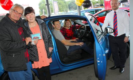 Charitable non-driver wins – then donates – his raffle prize