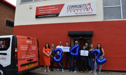 Pickerings Lifts raises £342 for local homelessness charity