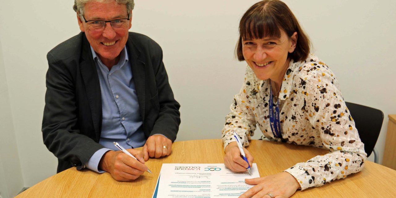 Darlington College signs new national mental health and wellbeing charter
