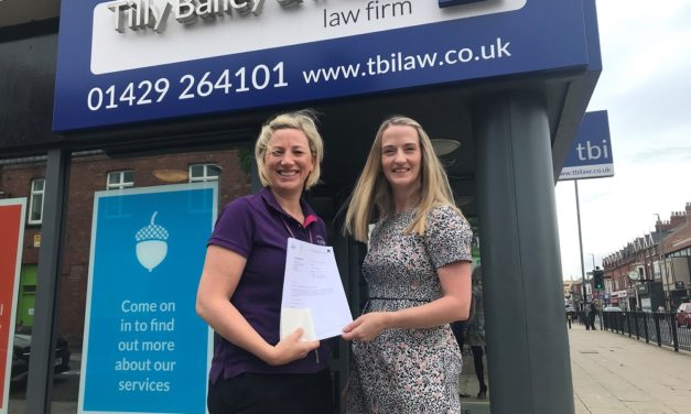 Tilly Bailey & Irvine Raise Over £3,000 For Hartlepool Hospice In 'Make A Will Month 2019'