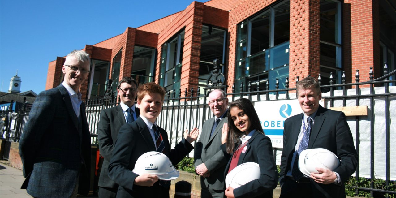WORK ON NEW RGS LIBRARY NEARS COMPLETION