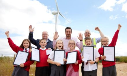 Heighington Schoolchildren Make Their Mark On Moor House Wind Farm Turbines