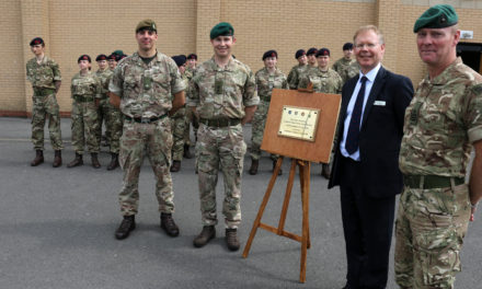 Academy's cadet force gets official Royal Marines send-off