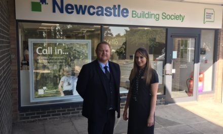 Charity Head To Cut The Ribbon At Upgraded Newcastle Building Society Ponteland Branch