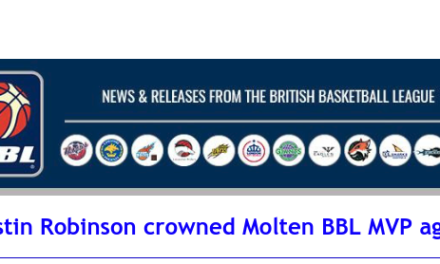 Justin Robinson crowned Molten BBL MVP again