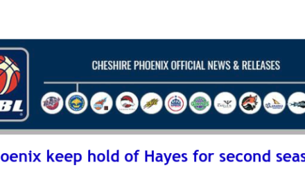 British Basketball League: Phoenix keep hold of Hayes for second season