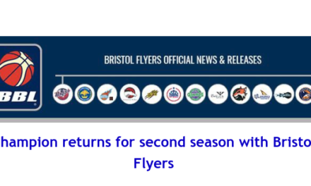 British Basketball League: Champion returns for second season with Bristol Flyers