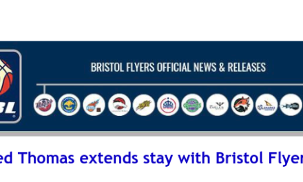 British Basketball League: Fred Thomas extends stay with Bristol Flyers