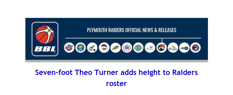 British Basketball League: Seven-foot Theo Turner adds height to Raiders roster