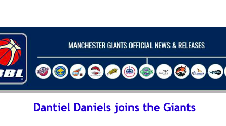 News from British Basketball League: Dantiel Daniels joins the Giants
