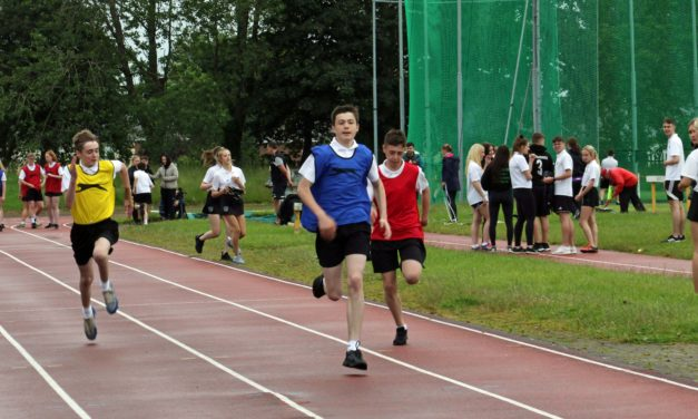 School's sporting stars head to stadium for annual sports day