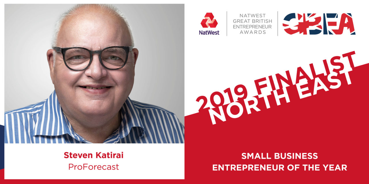 ProForecast's Steven Katirai has been shortlisted for the Small Business Entrepreneur of the Year