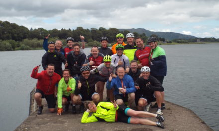 Intrepid cyclists ready for the next challenge… skydiving!