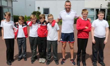 """Dig deep and discover how strong you are"" sprinter tells children"