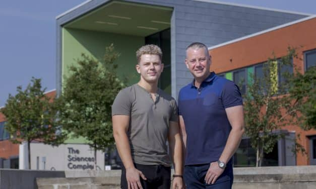 Double first as son follows in his dad's university footsteps