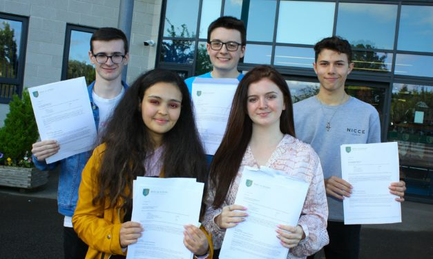 Students celebrate first class performances in A Levels