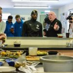ALLAN SAINT-MAXIMIN VISITS NEWCASTLE WEST END FOODBANK