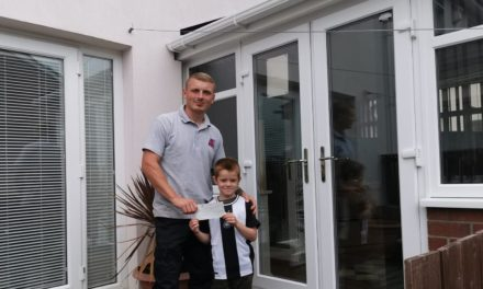 Inspirational eight-year-old inspires charitable act