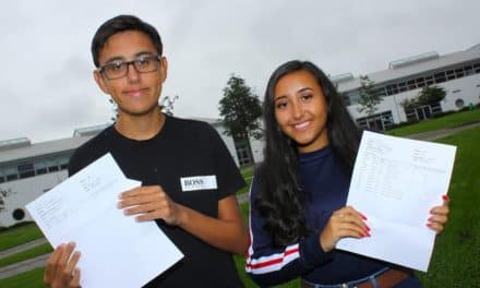 Brother and sister in different years celebrate GCSE results