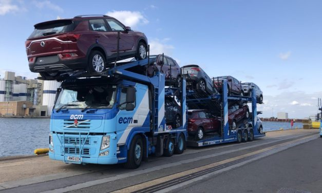 THE FIRST SHIPMENT OF ALL-NEW KORANDO DOCKS IN THE UK